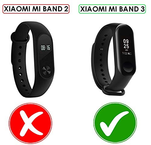 Rapidotzz Pack of 5 Straps/Belts/Bands Compatible only for Xiaomi MI Band 3 | Mi3 (Set 3)