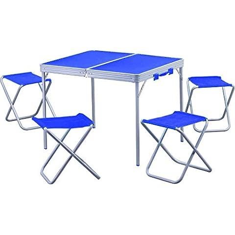 Maletín Pic Nic mesa plegable a maletín con sillas para acampada playa