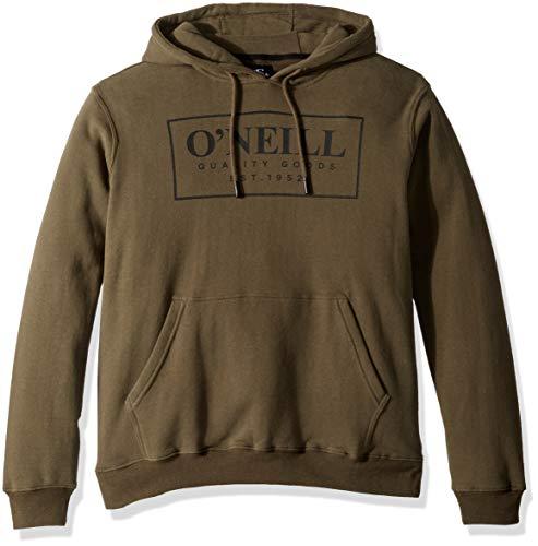 O'Neill Herren Pullover Front and Back Logo Hooded Sweatshirt Kapuzenpulli, Combos Military Green, X-Groß Hydro Fleece Hoody