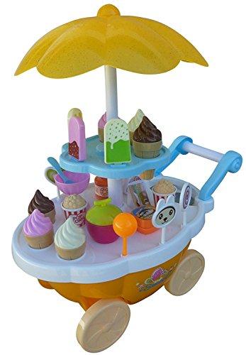 Mädchen Für Geburtstag-geschenk-körbe (Spielzeug Süßigkeiten-Servierwagen, A186/00, 30 tlg. Set mit Sound und Lichteffekten für Kinder, mit viel Zubehör, Geschenk-idee für Jungen und Mädchen für Weihnachten und zum Geburtstag, Geburtstags-Geschenk)