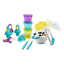 NUK 10225112 Fresh Foods Set, with 1x Each of Purée Set, Ice Mould, Freezer Mould, Stay-Fresh Container, 2X Spoons