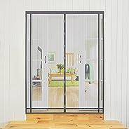 Sekey Rideau magnétique anti-insectes idéal pour porte de balcon, porte de cave, porte de terrasse (découpable