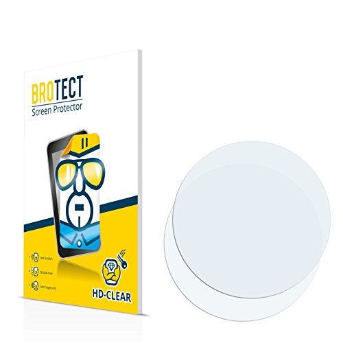 BROTECT für Fossil Q Commuter Schutzfolie [2er Pack] - klare Displayschutzfolie, Crystal-Clear