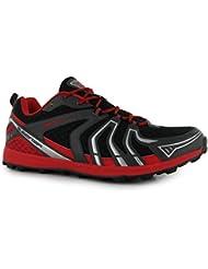 Slazenger Aero 2Lite D30Hockey zapatos para hombre negro/rojo Sports Trainers zapatillas deportivas, negro /rojo, (UK12) (EU46)