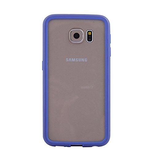 wkae Schutzhülle Fall & Schutzhülle für Samsung Galaxy S6/DM475C/G920farbigem Bumper Rahmen dunkelblau