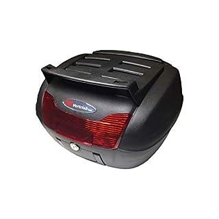 Top Case für Motorroller, Roller, Motorrad und Quad 40 Liter Koffer Gepäckfach schwarz inkl. Montageplatte