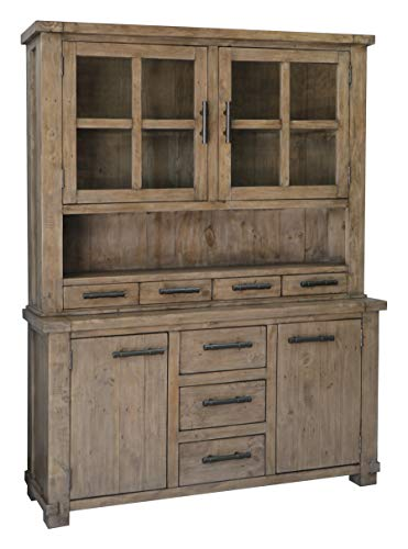 The Wood Times Sideboard Vintage Wohnzimmerschrank Massiv Industrial Kiefernholz, FSC Recycelt, BxHxT 160x85x45 cm - 5