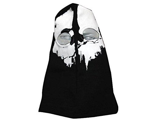 Pasamontañas Balaclava Ghost 2agujeros negro algodón