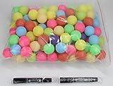 Coface 150Pcs Scrub Tischtennisball Ping Pong Ball Lotteriekugeln Multicolor