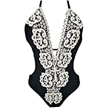 Traje de baño una Pieza Mujer Escote en V Encaje POLP Sexy Bikinis Mujer 2019 Brasileño