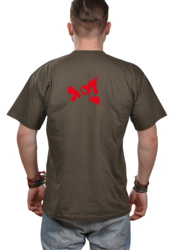 T-Shirt Herren Eidos Treiber - Jäger T-Shirt Treiber Khaki