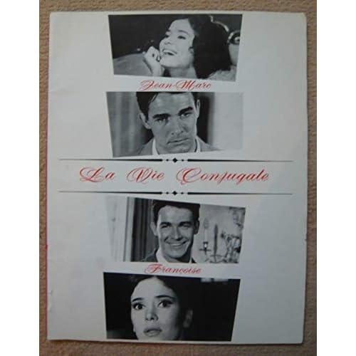"""Dossier de presse de La vie conjugale """"Françoise"""" """"Jean-Marc"""" (1964)- 21x27cm, 34 p – Film d'André Cayatte avec M-J Nat, J Charrier – Texte tapuscrit - Photos N&B – Bon état."""