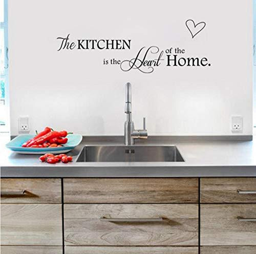 Küche Liebe Vinyl Wandaufkleber an der Wand Abziehbilder Kunst Worte Küche Hintergrund Dekoration Aufkleber Wohnkultur ()