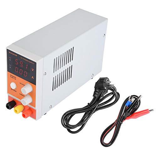 Akozon Reguliertes Gleichstromnetzteil Labornetzgerät NPS605D Hochgenaues Einstellbares Geregeltes Gleichstromnetzteil 0-60V 0-5A Einstellbares Digitales Netzteil Genauigkeit 0.01A 0.1V(EU Stecker) (60 Volt Dc-netzteil)