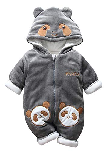 257ebf7b2eda2 Happy Cherry Combinaison Pilote Bébé Fille Garçon Habit de Neige Panda  Enfant Manteau Polaire Oreille Chaud