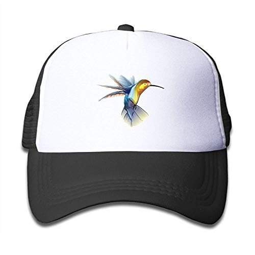 LoveBiuBiu Hummingbird Youth Mesh Baseball Cap Summer Adjustable Trucker Hat (Newsboy Cap Blue Power)