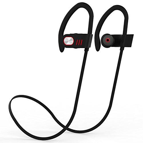 Auriculares Bluetooth ZOETOUCH Auriculares inalámbricos Bluetooth 4.1 Auriculares Deportivos con micrófono, cancelación de Ruido, Feather Light para iPhone, iPad, Samsung, Nexus, HTC y más