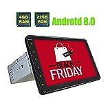 JOYFORWA 1 Din Autoradio Estéreo Reproductor táctil de alta definición de 8 pulgadas HD Universal Android 8.0 Soporte de radio Octa Core Bluetooth / Dab / Cámara de visión trasera / DVR Dash Cam