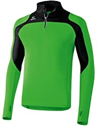Erima Running Longsleeve Race Line - Top de manga larga de running para hombre, color verde, talla 164 cm