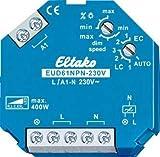Eltako Universal-Dimmschalter 230V, Power MOSFET, ESL LED bis 400W, 1 Stück, EUD61NPN-230V