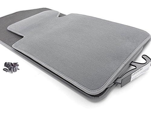 Fußmatten BMW 3er E46 Original Qualität Velours 800g/m² Auto Teppich 4.teilig grau