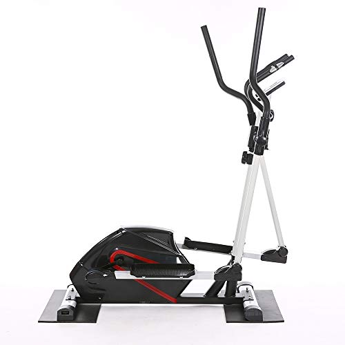 Pettneeds-YD Home Fitness Cross trainer ELLIPTICAL CROSS TRAINER & EXERCISE BIKE FITNESS CARDIO WORKOUT WITH SEAT (Color : Black, Size : 61x105x158cm)