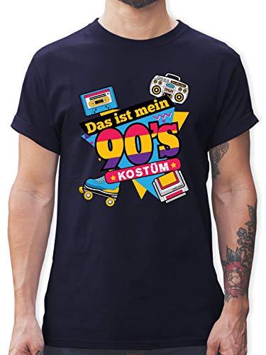 Karneval & Fasching - Das ist Mein 90er Jahre Kostüm - XL - Navy Blau - L190 - Herren T-Shirt und Männer Tshirt (Schnitt Kostüm)