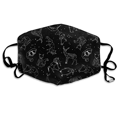 vintage cap Constellations Black And White Kids Nursery Baby Geometric Animals Anti Dust Mask Anti Pollution Washable Reusable Mouth ()
