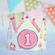 e6a9171ed Corona niña princesa, corona de tela para cumpleaños niña, adorno de pelo  niña.