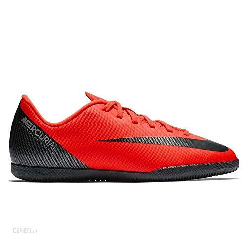 Nike Bota de Futbol CR7 Mercurial Vapor 12 Club GS Suela Lisa Roja Niño fc1ca184e5dfc