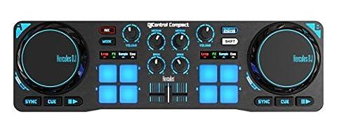 Hercules DJ Control Compact (2-Deck DJ Controller, 8 Pads, DJUCED 18°, PC / Mac)