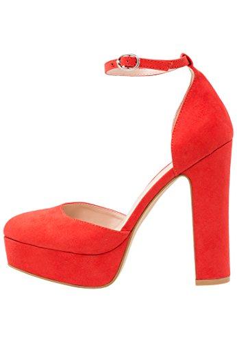 Even&Odd Zapatos de Plataforma para Mujer - Rojo, 39