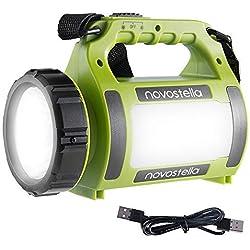 Novostella Torcia Lanterna LED 3 in 1, Lampada Ricaricabile USB Portatile Impermeabile, 2000mAh CREE LED da Campeggio, Pesca, Trekking, Emergenze Escursioni