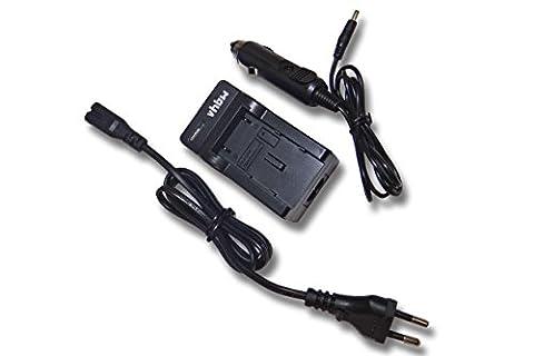 vhbw Ladegerät Ladekabel mit Kfz-Lader für Panasonic HC-V707, HDC-SD40, HDC-SD66, HDC-SD80, HDC-SD90, HDC-SD99 wie VW-VBK180, VW-VBK180EK.