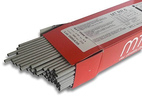 rutil-dickumhüllte Varillas Electrodos V2A 1.4316 mt-308l 1,6-2, 5mm ACERO inox. Electrodos MTC nirosta - 1kg (aprox. 86 pieza), 2mm Ø