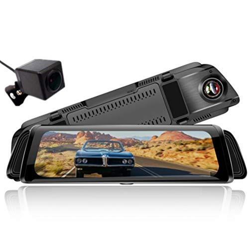 Front- und Rückdoppellinse-Fahrzeugkamera 170 ° Weitwinkel-Recorder mit Infrarot-Nachtsicht, Parkmonitor, G-Sensor, Loop-Aufnahme, hintere Kamera (VGA) Keine SD-Karte