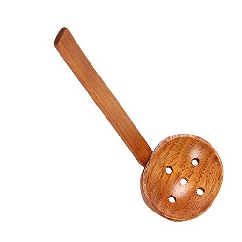 Carry stone Japanischen Stil Lange Griff Holzsuppe Löffel Ramen Schöpflöffel Sieb Heißer Pot Scoop Colander Küchengerät Scoop Colander