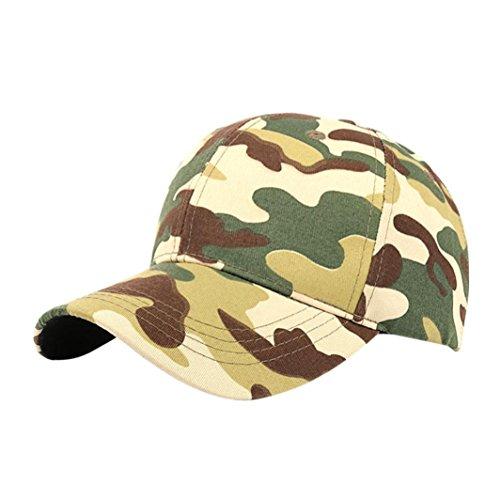 AMUSTER.DAN Unisex Outdoor Camouflage Sport Cap Baseball Cap Snapback Hip Hop Hüte (Grün)