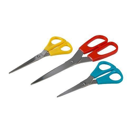 Ikea trojka forbici set da pezzi, set colorato forbici trio cut in acciaio inox, 3pezzi–lavabile in lavastoviglie–14cm, 15cm e 21cm di lunghezza.