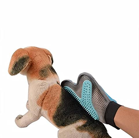 Better 2-in-1 Pet Glove ,Deshedding Gentle Grooming Mitt For Dog & Cat Brush Glove - Your Pet Will Love It