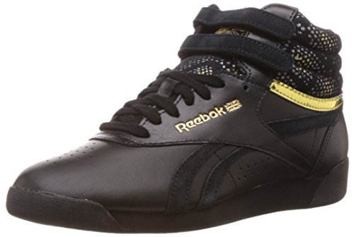 Reebok Classics Women's F/S Hi Jacquard Black and  Brass Leather Multisport Training Shoes – 7 UK 41MTwZ0YvZL