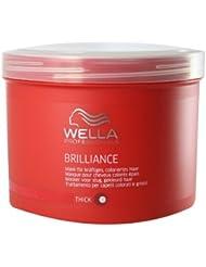 Wella Professionalss Brilliance unisex, Mask für kräftiges, coloriertes Haar 500 ml, 1er Pack (1 x 1 Stück)