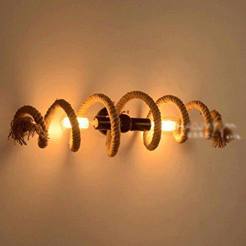 GBYZHMH Rustikale kreative Vintage Garn Kronleuchter Korridor Gang Dekoriert antike Lampe Bar Cafe Bar Kronleuchter Antik Creative Bar Gang Lichter personalisierte Creative Retro Persönlichkeit E27 (Farbe: Wandleuchten, Größe: 1/pcs)