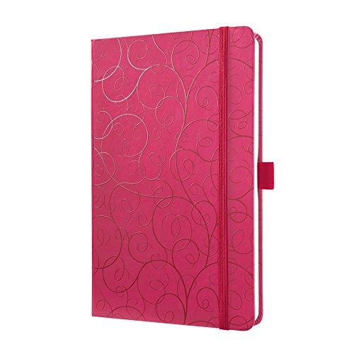SIGEL JN315 Notizbuch Jolie, ca. A5, liniert, Hardcover, Gummiband, Stifteschlaufe, Einsteckfach, Purple Elegance - viele Modelle