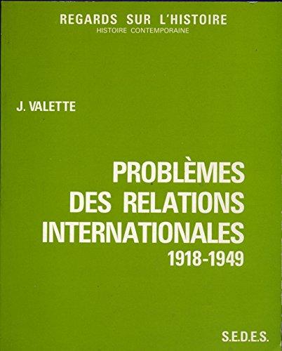 Problèmes des relations internationales...