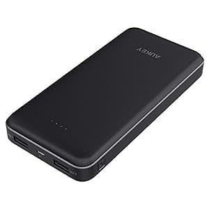 AUKEY Powerbank 20000mAh, Externer Akku mit 2 Outputs 5V 2A & 5V 1A für iPhone X/8/Plus/7/6s, Samsung GalaxyS8/S8+, iPad usw.