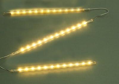 LED Lichtleiste - 3 LED Sticks incl. 36 LED warmweiß