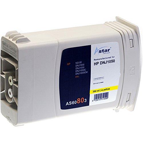 Preisvergleich Produktbild Astar AS60803 Tintenpatrone kompatibel zu HP NO80 C4848A, 350 ml, gelb
