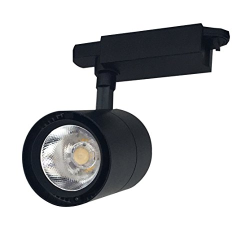 Foco de Carril LED Monofásico G8005 30W Negro Luz Calido 3000K