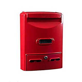 Byx- Mailbox - Cast Aluminum, Large Wrought Iron With Lock Retro Home Outdoor Wall Can Be Placed In The Mailbox Number Of The Mailbox, Suitable For Villas, Courtyards, Home - A Variety Of Colors Avail